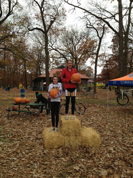 Hallow Cross Race - Sarnia October 27th, 2012<br /> Junior Girls podium