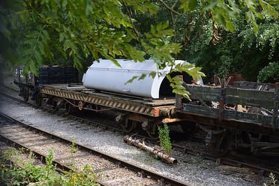 25t Bogie Bolster Flat 5999 ex Furness Railway & 4w Plank Open P538C   26/07/14.