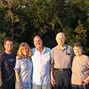 Graham, Cindy, David, Dad and Mom at sunset