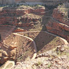 The famous Shafer Switchbacks on the east side of the White Rim Trail in Canyonlands National Park near Moab Utah.
