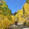 Ascending Stony Pass in Colorado during the fall colors.