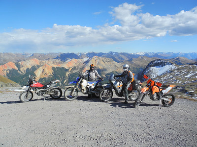 Overlooking the Red Mountains in Colorado from Imogene Pass.