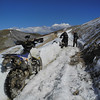 Plowing through a snowy path on Imogene Pass in Colorado.
