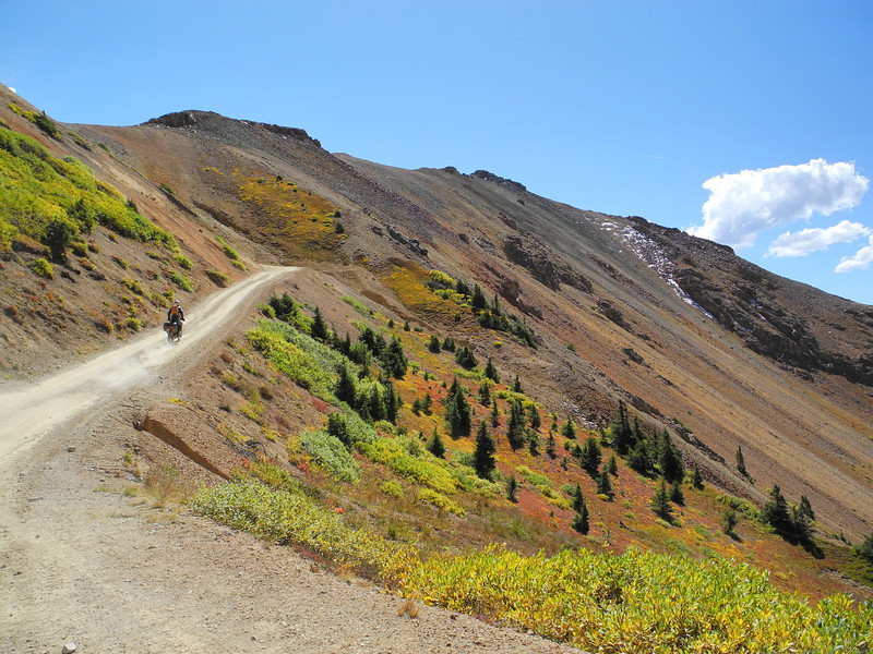 Ascending beyond the tree-line on Corkscrew Pass in Colorado.