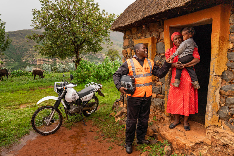 Two Wheels For Life medical worker helping to provide healthcare in remote parts of Africa
