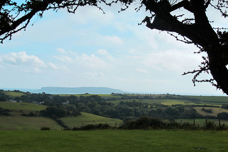 The isle of Portland from White Horse Hill.
