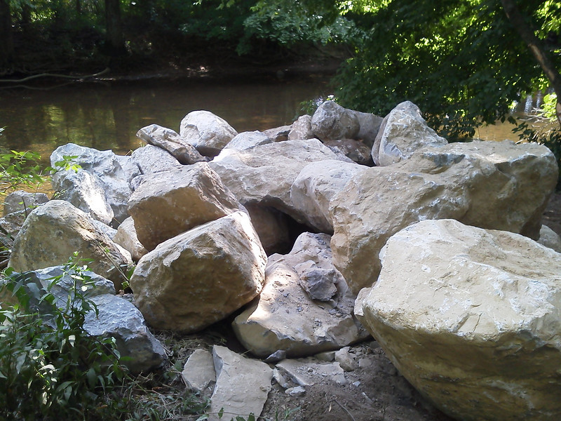 When placed these will tighten the river, create scour pools and enhance habitat.