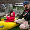 Liam Scherer in kayak