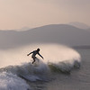 Nathan Mettler of Hawaii surfs in Shimei Bay.