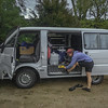 Meg's van - gearing up to run the Abel Tasman track