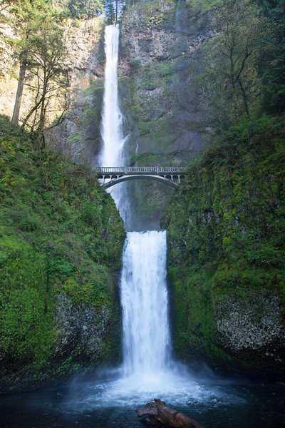 Multnomah Falls in Spring