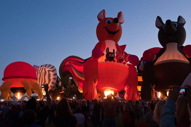 Albuquerque Balloon Fiesta - Special Shape Glowdeo