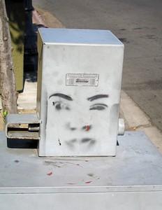 Newspaper vending machine, San Diego, 19 Jun 2005