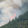 It took the fire about a minute to burn to the top of the canyon.