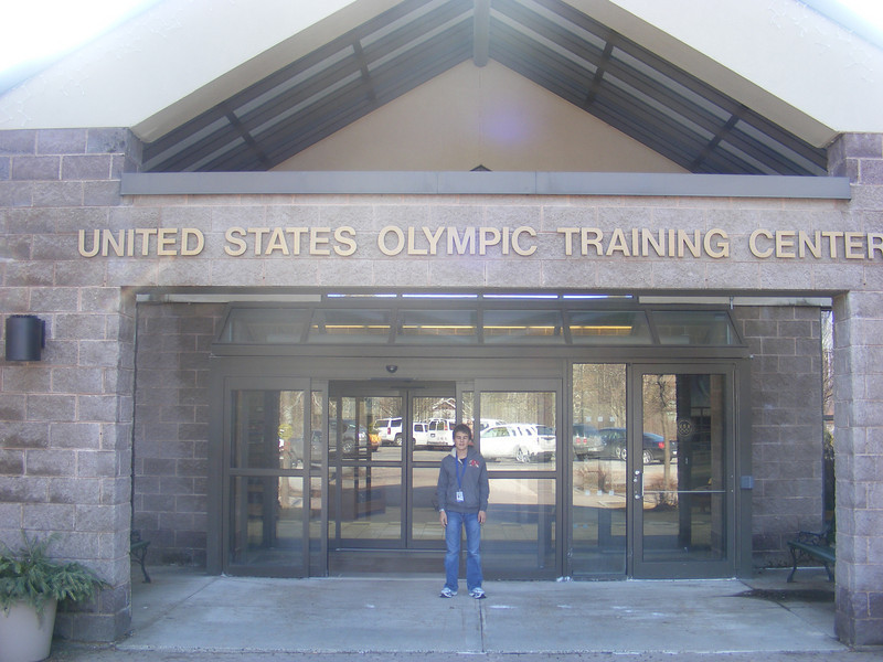 At the doors of the olympic training Center