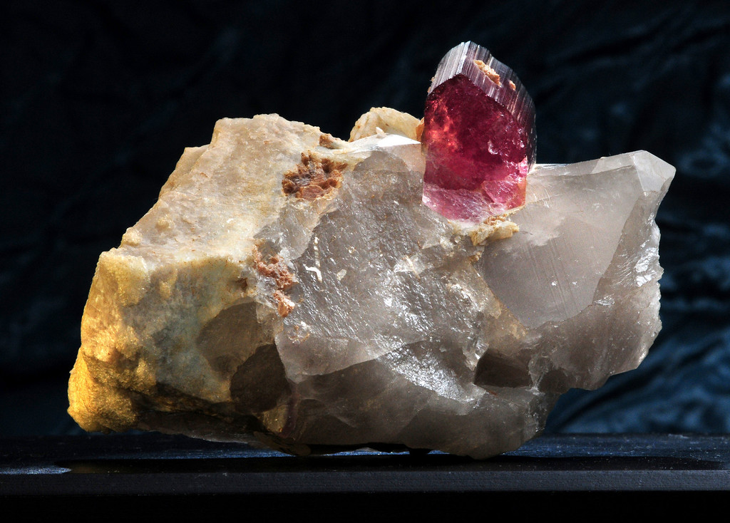 T-Q-7 Tourmaline in Quartz Origin: Himalaya Mine, Mesa Grande, CA