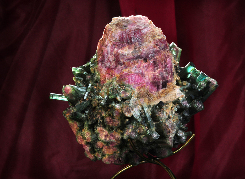 T-4 Tourmaline   Origin: Stewart Mine, Pala, CA   Broken base of very large crystal
