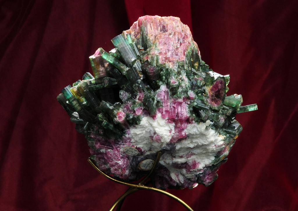 T-4 Tourmaline   Origin: Stewart Mine, Pala, CA   Broken base of very large crystal
