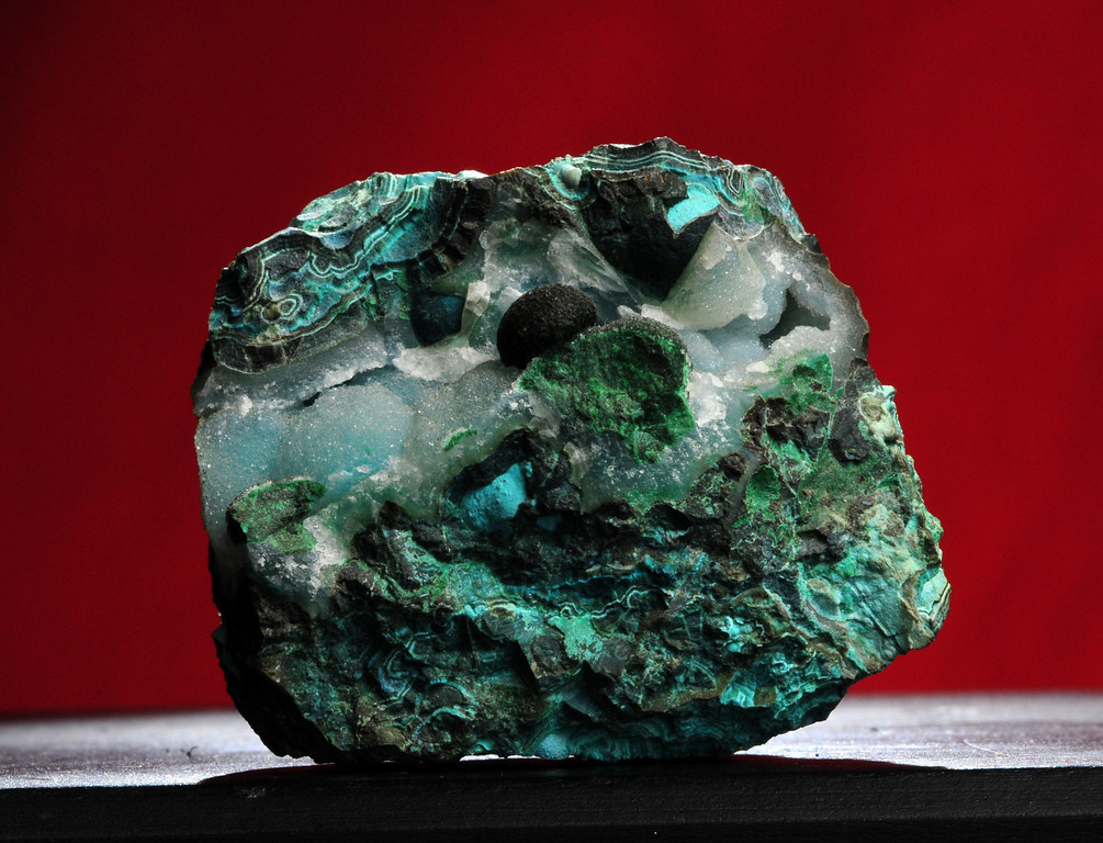 C-35  Chrysocolla with Druzy Quartz   Origin: Inspiration, AZ