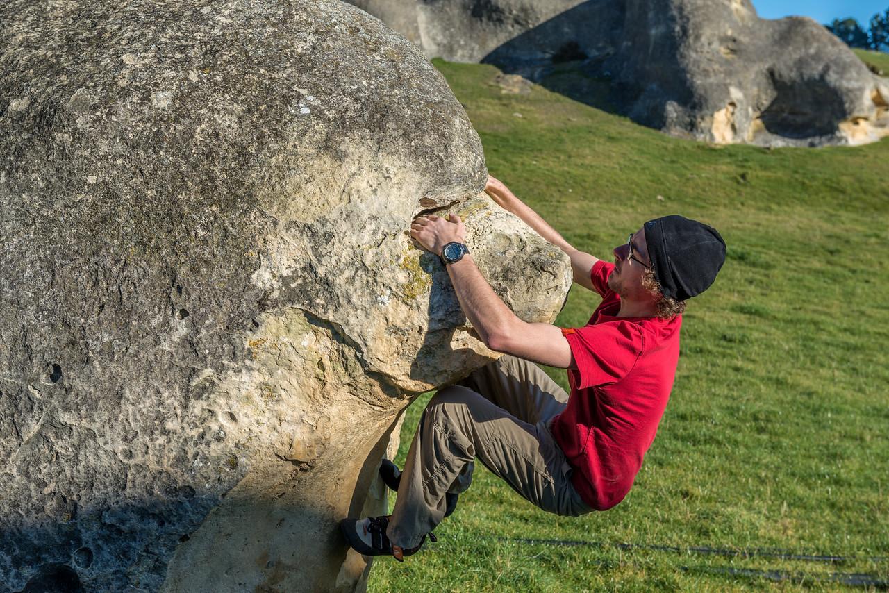 Bouldering on The Bear, Elephant Rocks