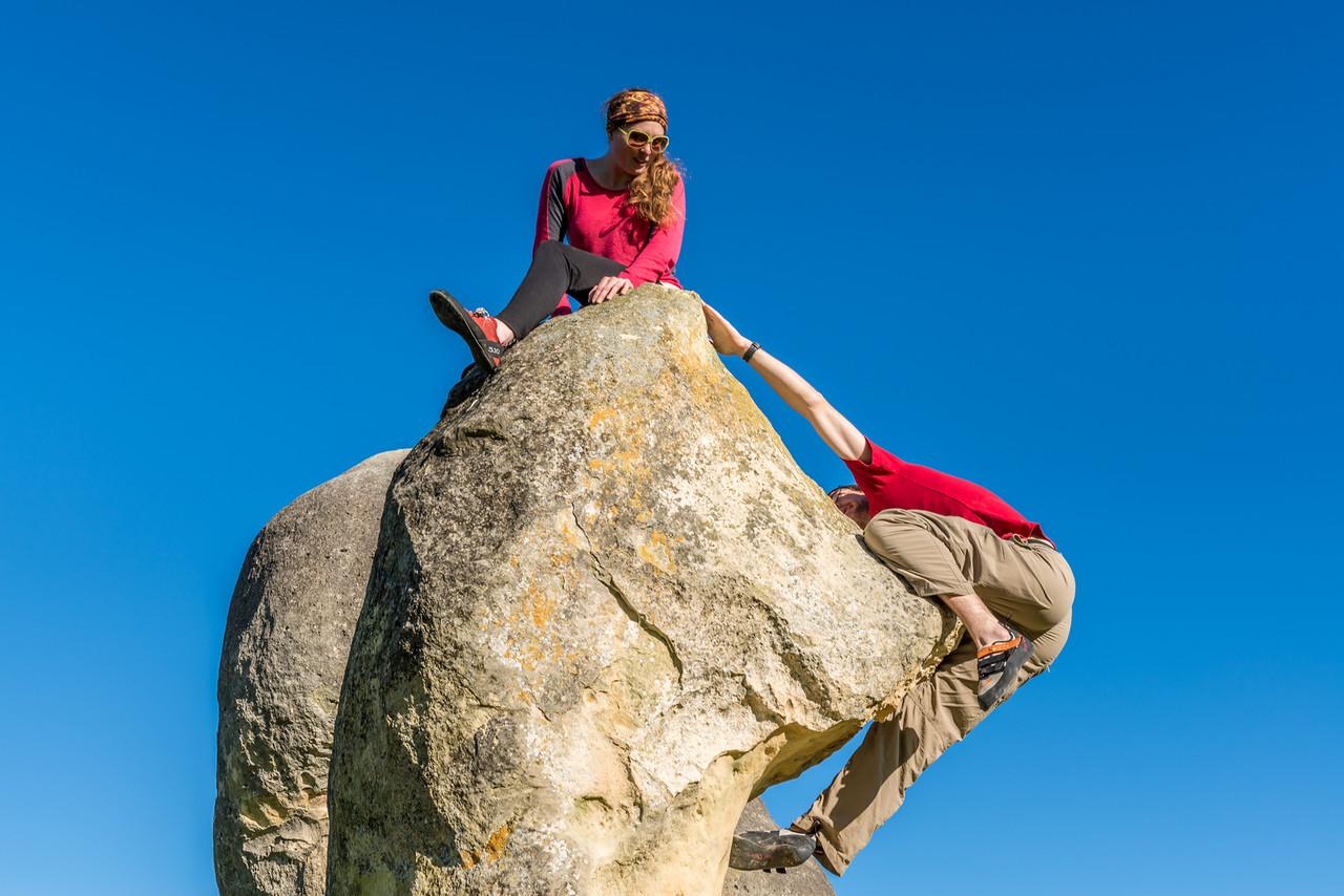 Bouldering at Elephant Rocks - Donald Duck