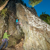 46. Chase Gatland on a semi-nocturnal ascent of The Stronghold's prow (24); Gonzalo Nido on belay