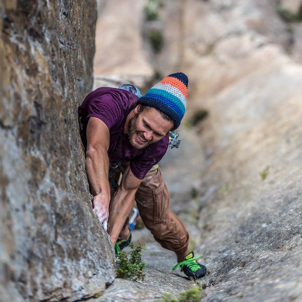 """James-Anthony Keswick leading """"Uno"""", Orange Wall"""