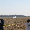 "The ISS ""Mocket"" on its way, burning an AMW K950 motor. Mark Joseph photo."
