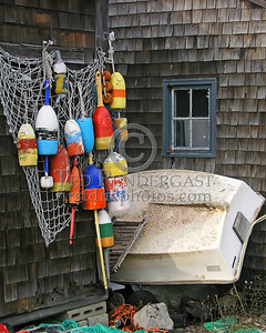 Color Bouys & Dingy - Rockport Harbor - Rockport,Mass.