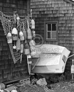 Black & White Bouys And Dingy - Rockport Harbor - Rockport,Mass.