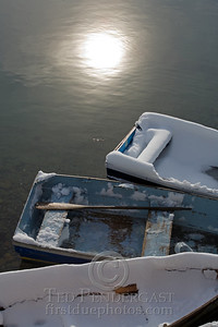 Rowboats With Sun Reflection - Rockport, Massachusetts - 282