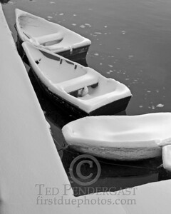 Rowboats in Black & White - Rockport, Massachusetts - 065