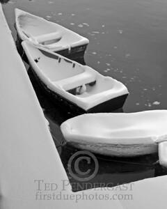 Rowboats in Black & White - Rockport, Massachusetts - 065