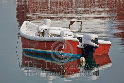 Small Lobster Boat - Harbor at Rockport, Massachusetts - 133