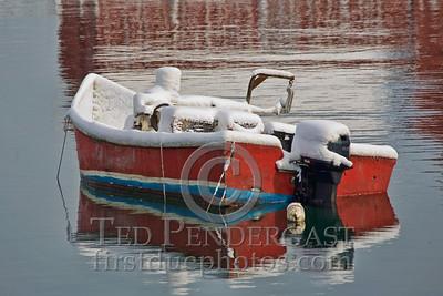 Small Lobster Boat - Harbor at Rockport, Massachusetts - 133