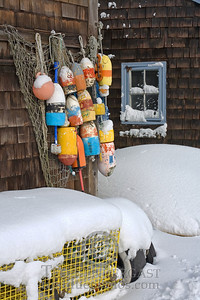 Fishing Shacks With Lobster Pots and Buoys - Rockport, Massachusetts - 200