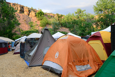 Tents in the campground at the 44th annual Rockygrass. Photo by Candace Horgan.