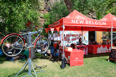 New Belgium tent at the 2016 Rockygrass. Photo by Candace Horgan.