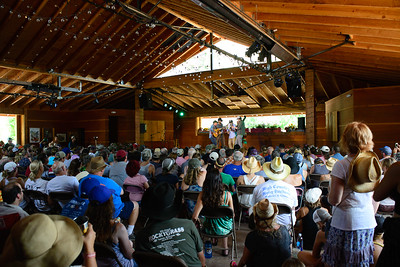 Fans enjoy the Band Contest Prelims at the 44th annual Rockygrass. Photo by Candace Horgan.