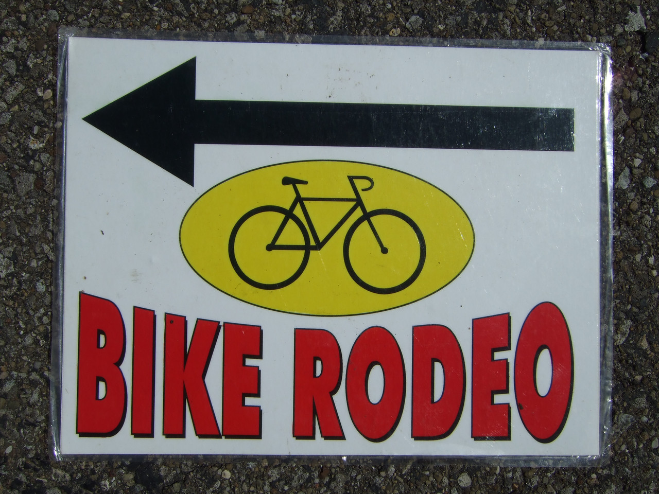 Bike Rodeo sign