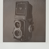 Here's an SX-70 Polaroid of my Rollei (shot w/ expired since 2003 Type 600 B&W film)