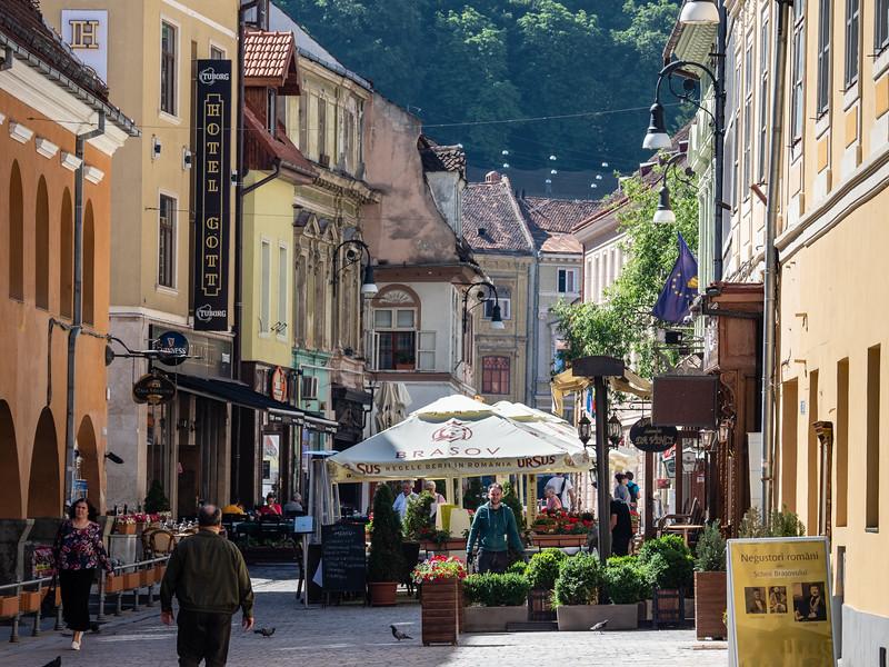 Brasov Pedestrian Street