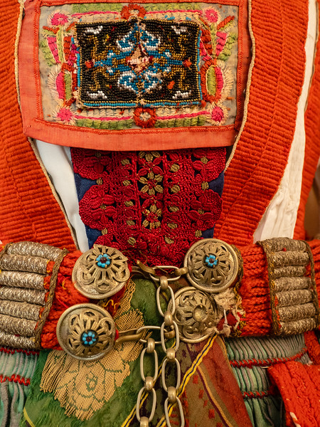 Detail of Unmarried Women's Clothing Worn in Rimetea