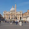 A not so wide perspective on St Peter's Square.