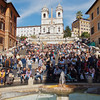 The Spanish Steps in Piazza Del Spagna are the widest staircase in Europe.