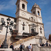 On a second trip to the Spanish Steps, I to a walk up to the top to get this shot of Trinità dei Monti.