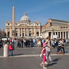 St Peters Square and the Basilica draw in the crowds all year round.