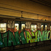 I found Rome's Metro a useful way to get quickly between the places I was interested in.  Sadly, most of these old, graffiti strewn trains have now been replaced by new, modern trains.