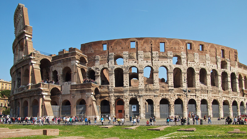 Greatest of all Rome's attractions is the Colusseum.  Taken after exiting the Forum at the Arch of Titus.