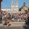 From Piazza Del Popolo, I took the low route back to the Spanish Steps to try for a coupe of ultra wide perspectives.